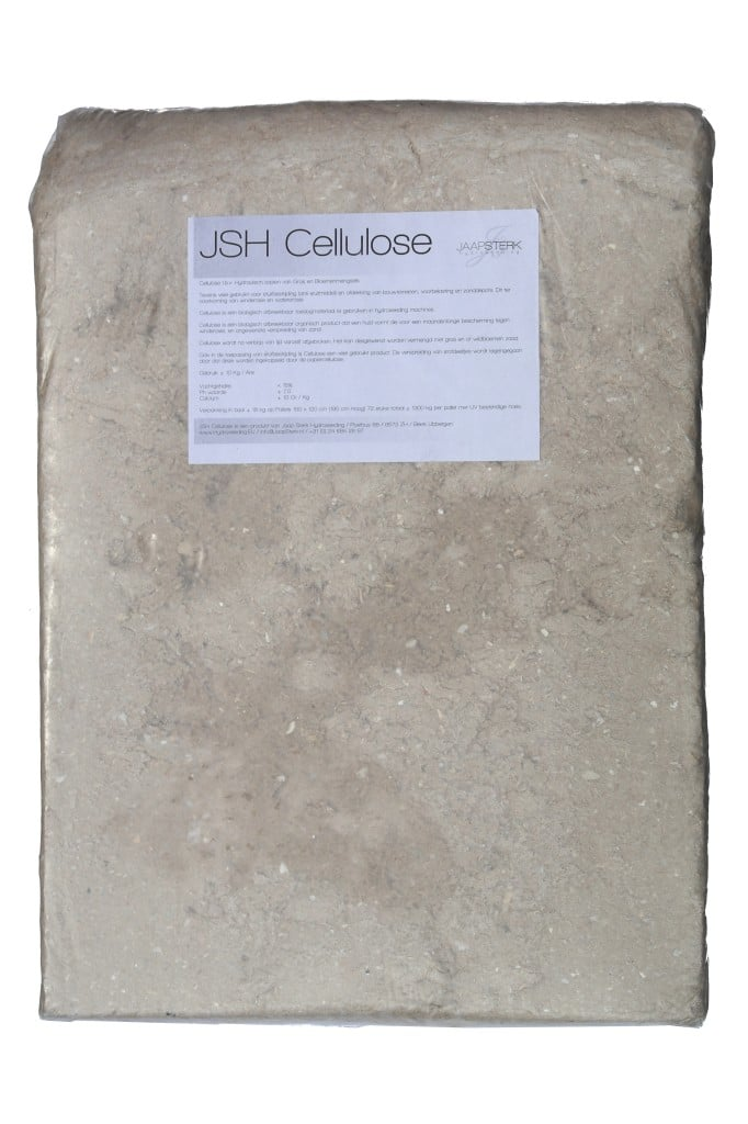 JSH Cellulose voor Hydroseeding machines ook te koop als Grassfix en Stesam.