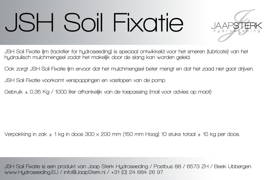 JSH Soil Fixatie voor Hydroseeding machines